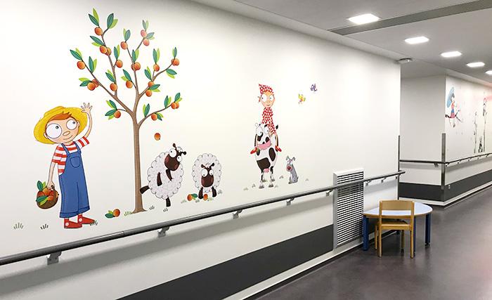 Une décoration murale européenne