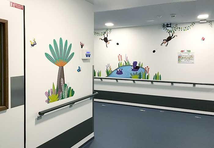 Décoration murale sur le thème de la jungle