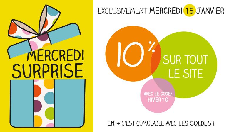 Mercredi surprise – 10%