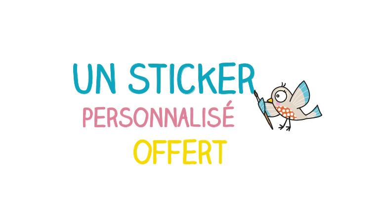 Un sticker personnalisé offert !